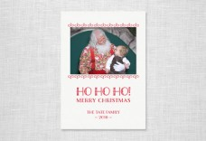 Ho Ho Holiday Photo Card