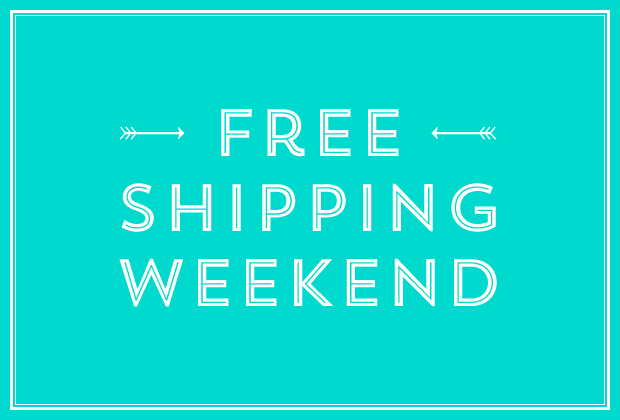 Free Shipping Weekend | The Quill | Missive | Letterpress ...