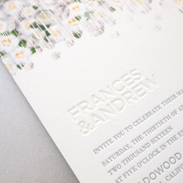 Veranda Letterpress Wedding Invitation