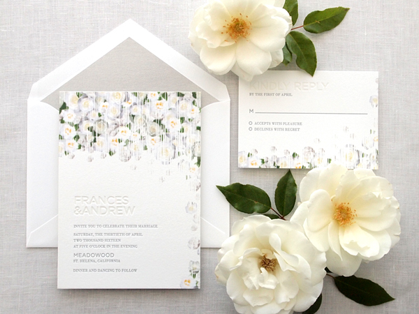 Veranda Letterpress Wedding Invitation Suite by Missive