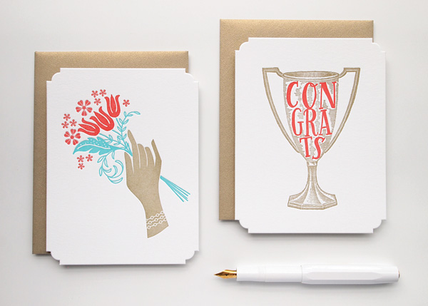 Missive Deluxe Greetings - Die Cut Letterpress Cards