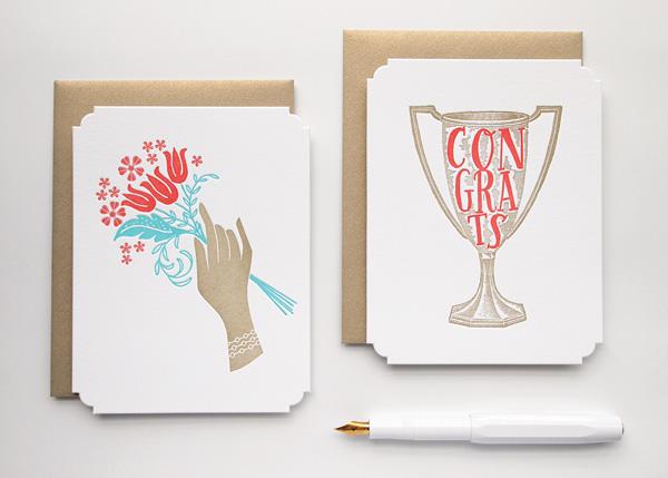 deluxe die cut letterpress cards by Missive