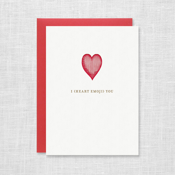 I Heart Emoji You Card