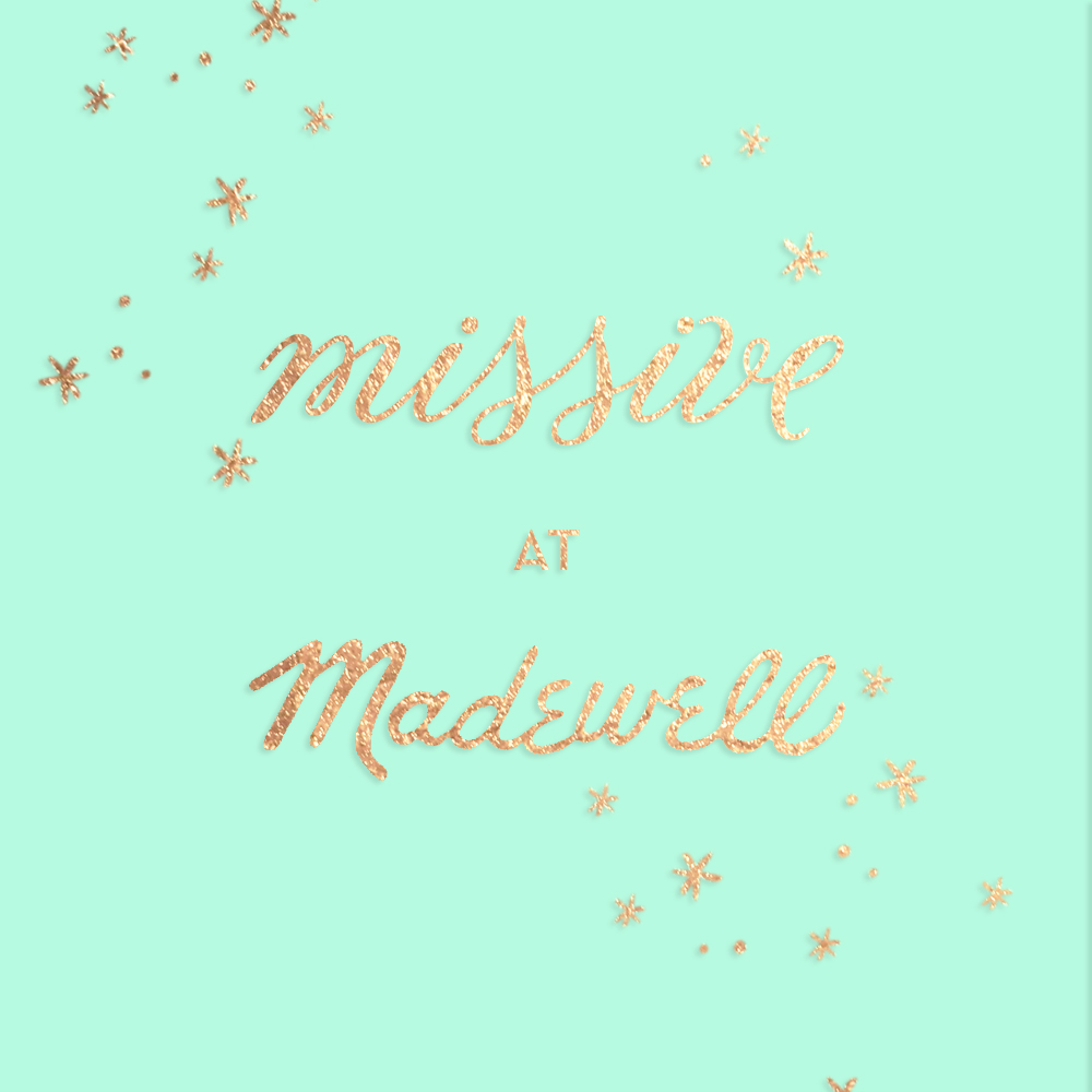 Missive Holiday pop up shop at Madewell