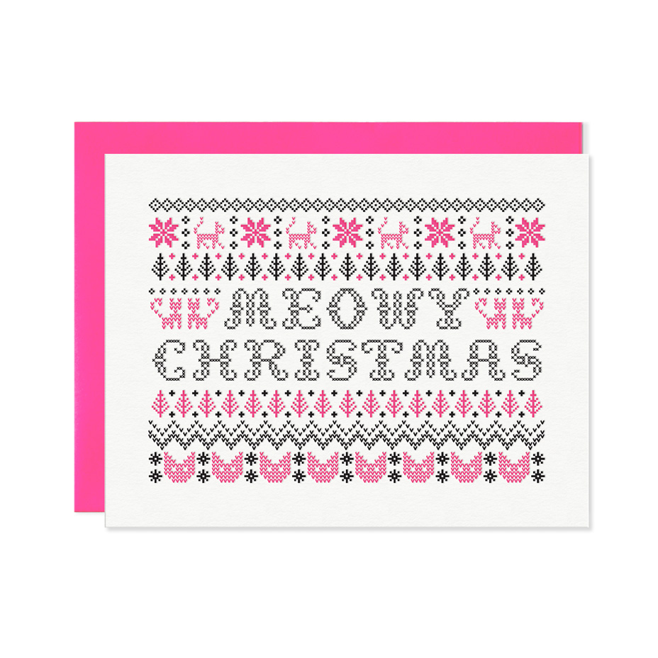 Meowy Christmas Boxed Set | Letterpress greeting cards, paper goods ...
