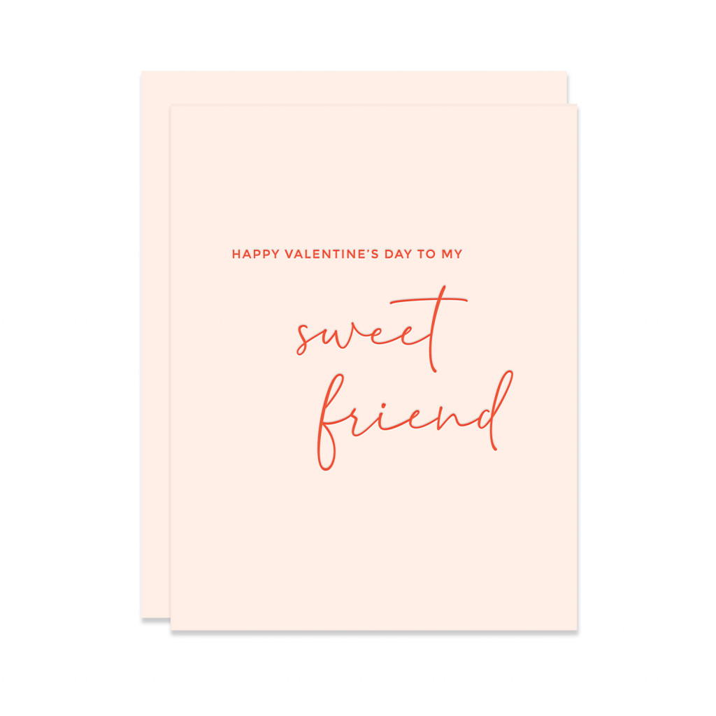 Sweet Friend Letterpress Valentine
