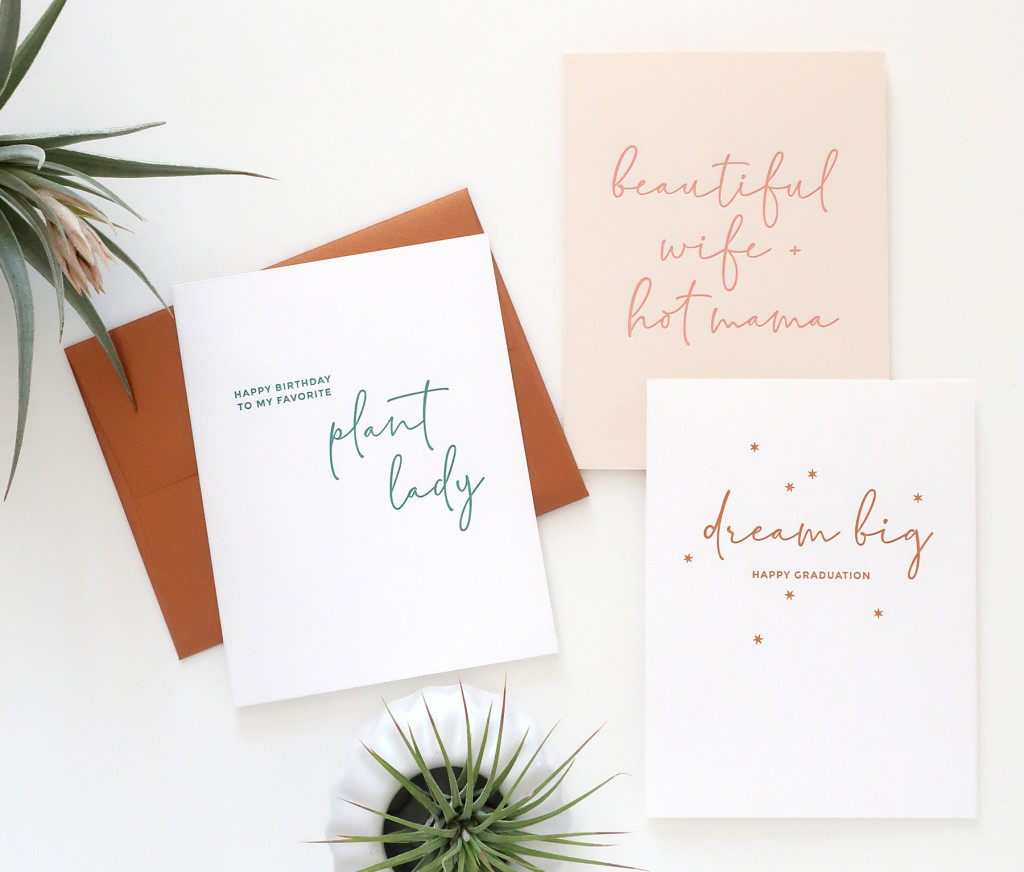 Spring 2019 Letterpress Collection